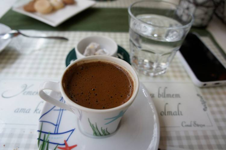 Turkish coffee at Ortaköy Cafe Kahvalti