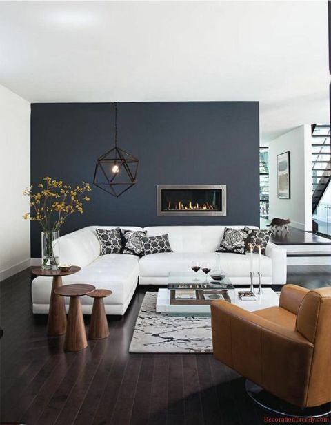 black wall interior inspiration