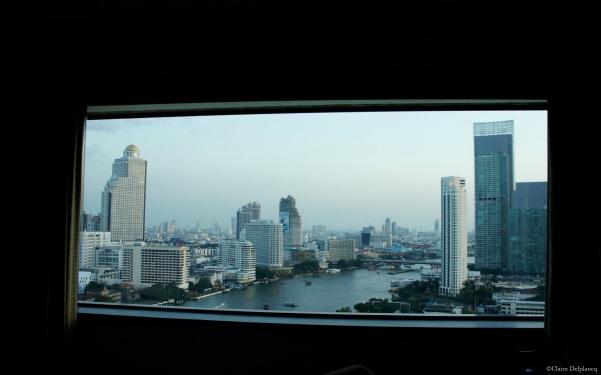 Hilton Millennium bedroom view Bangkok Thailand