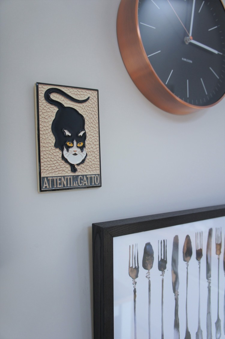 Cat Amalfi ceramic Kitchen gallery wall