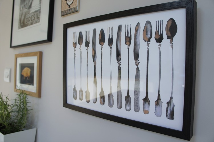 Row of Cutlery by Bridget Davies Kitchen gallery wall
