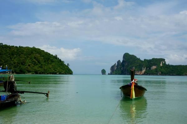 Thailand Koh Phi Phi long boats