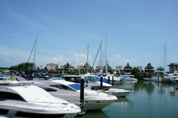 Thailand Phuket harbour