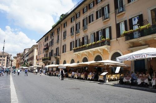 Piazza Navona terraces Rome
