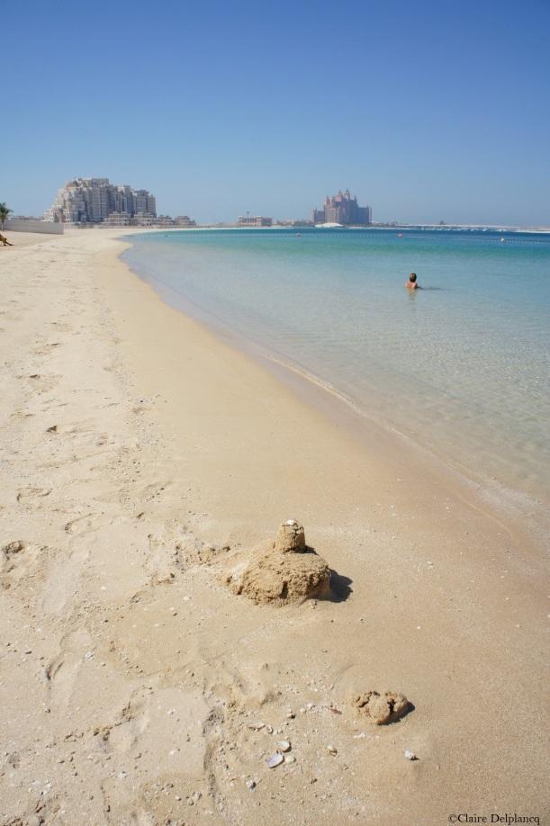 Dubai-beach-sand-castle