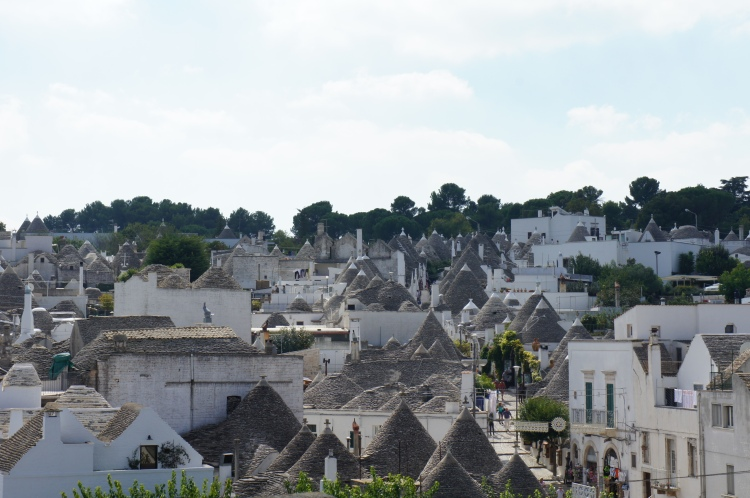trullos in Alberobello