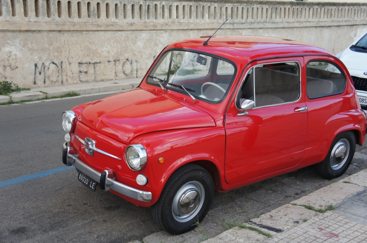 Red car in Leuca