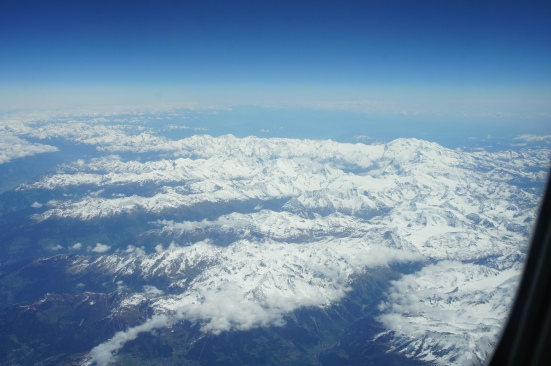 Alps flight to Rome