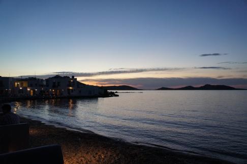 Paros Naoussa sunset