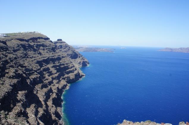 Santorini Oia hike Caldera