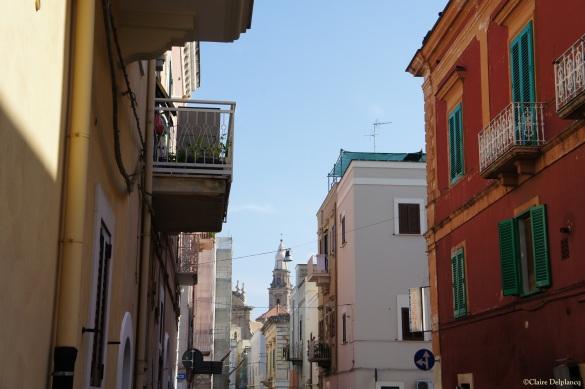 Italy Puglia Monopoli red building