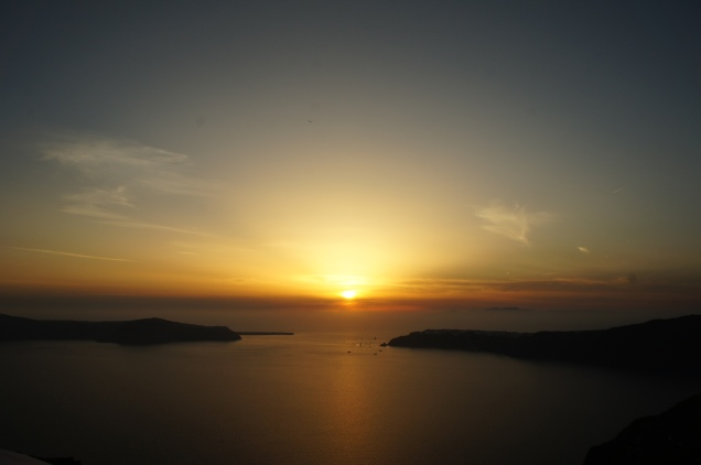 Sunset at Grace Hotel Santorini