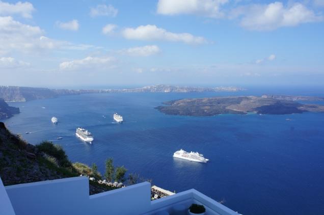 Caldera view from Grace Hotel Santorini