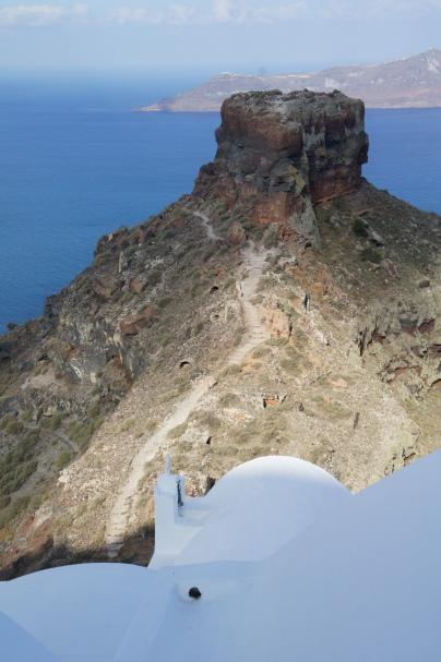 Santorini Skaros Rock