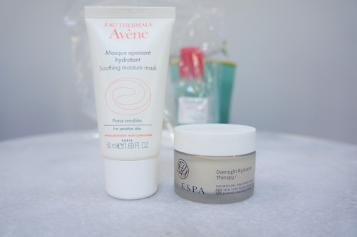 carry on skincare avene espa face masks