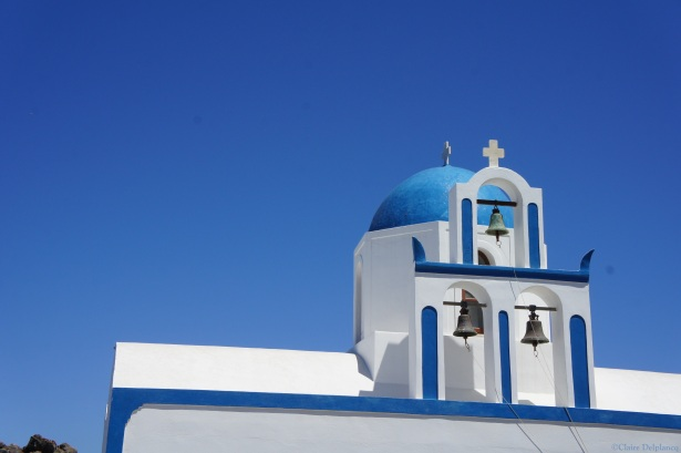 Santorini Ekklisia Profitis Ilias blue church