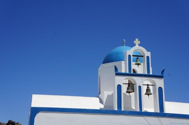 Santorini Ekklisia Profitis Ilias blue church