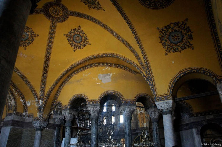 Istanbul Hagia Sophia yellow ceilings