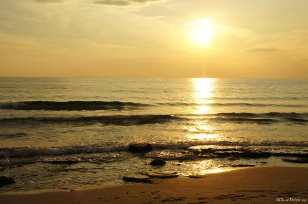 Italy Puglia Baia Verde sunset