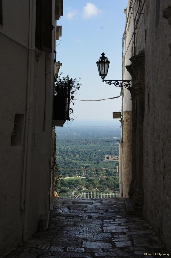 Italy Puglia Ostuni street light