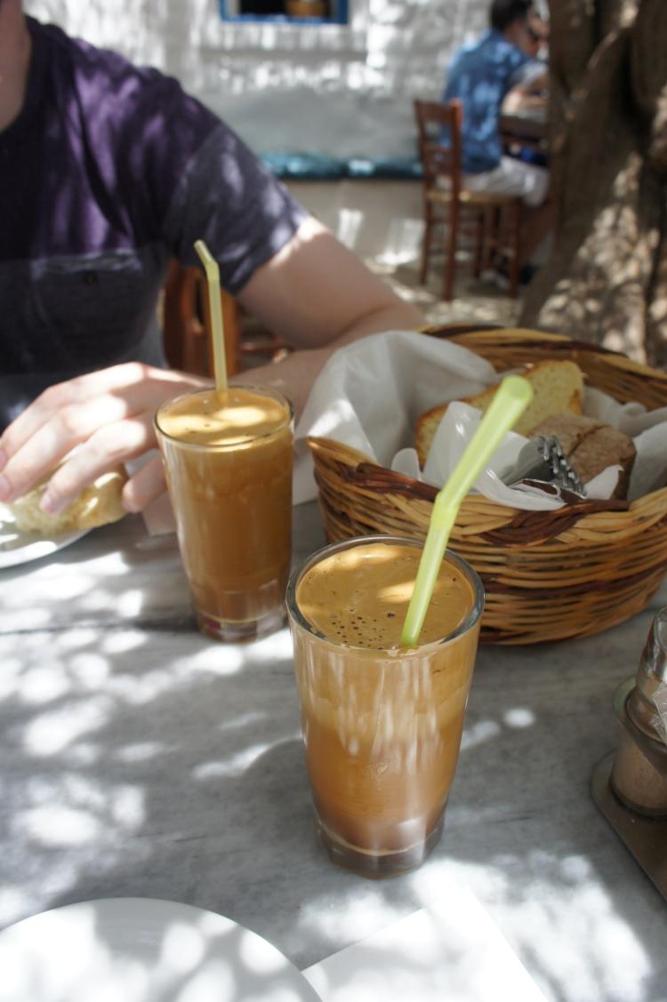 Café frappé Kiki's Tavern Mykonos