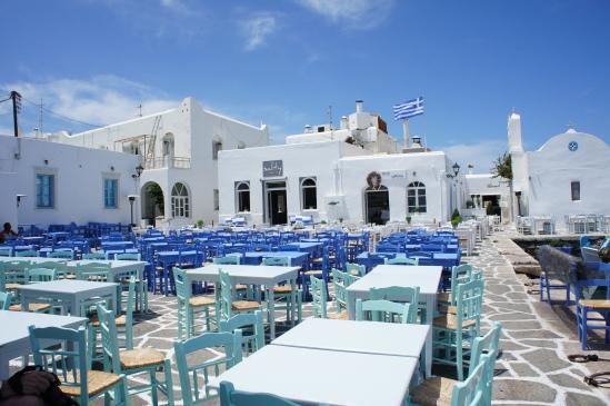 Naoussa main square Paros