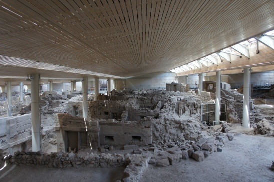 Akrotiri archaeological site Santorini