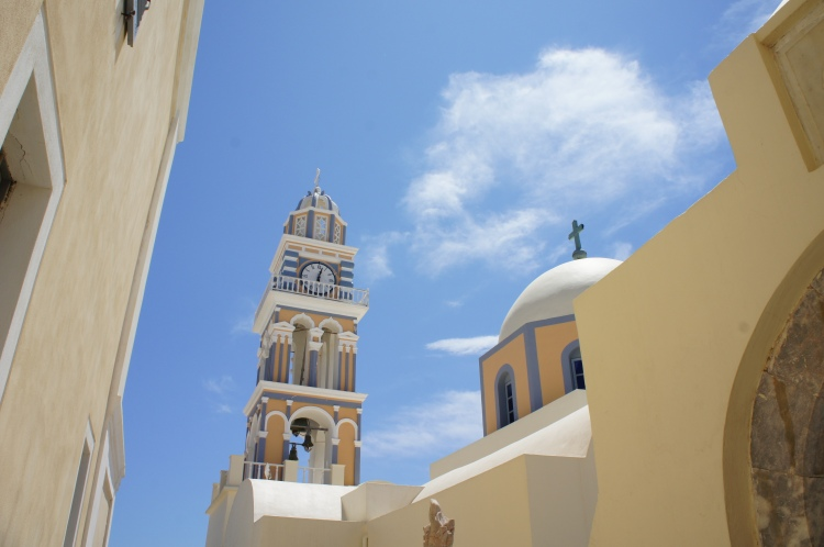 Fira Cathedral St John the Baptiste Santorini