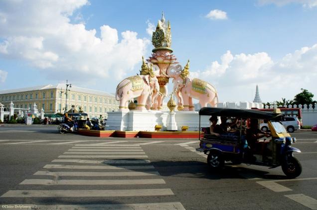 Pink elephants Sanam Luang Bangkok