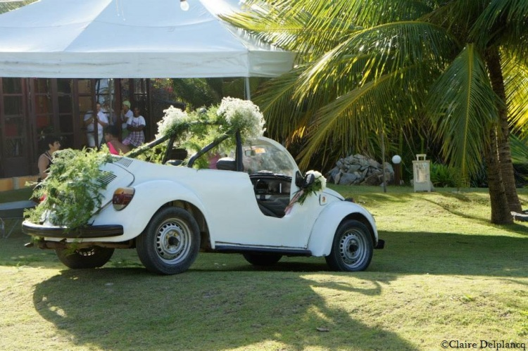 VW Beattle wedding car
