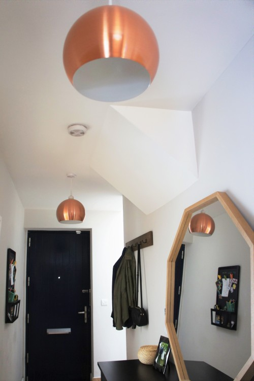 Round copper ceiling lamp shades