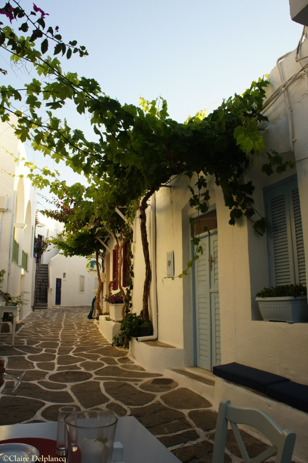 Soso restaurant terrace Naousa Paros