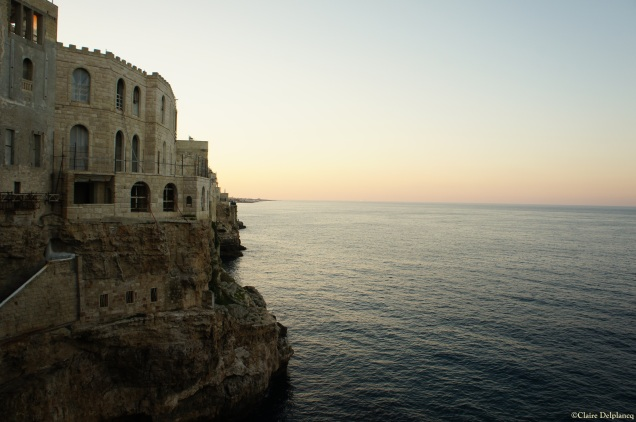 Grotta Palazzese sunset Polignano A Mare