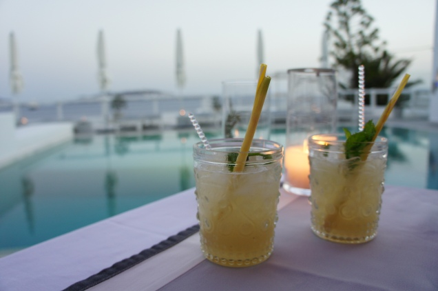 Cocktails at Grace Hotel Mykonos