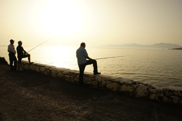 Fishermen Mykonos sunset