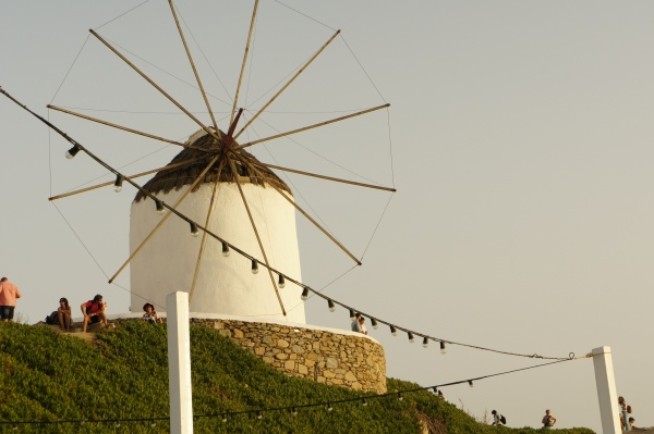 Windmill sunset Mykonos