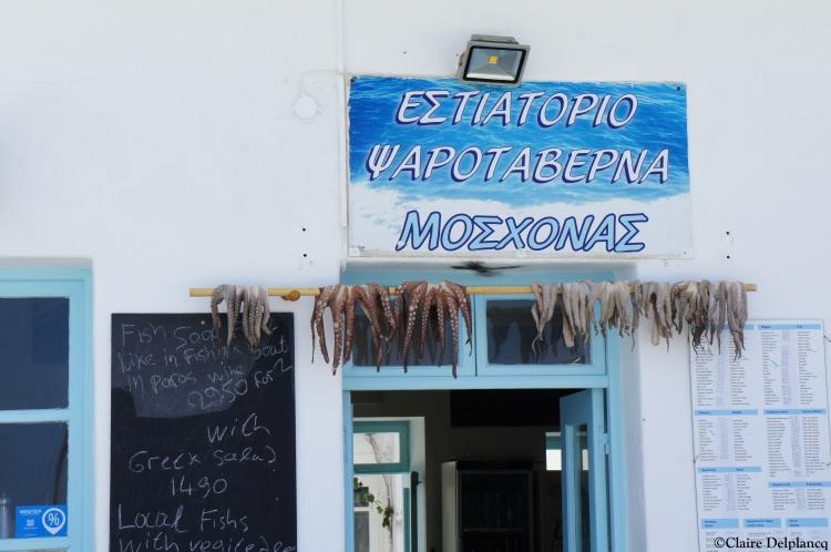 Octopus restaurant Naoussa Paros