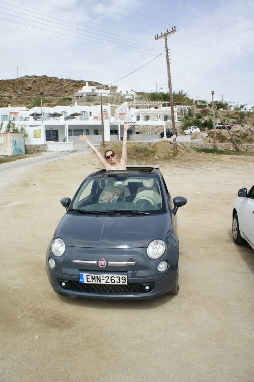 Fiat 500 Mykonos roadtrip