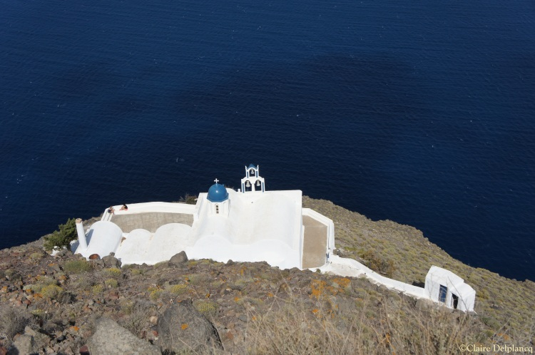 Church on Skaros Rock Santorini