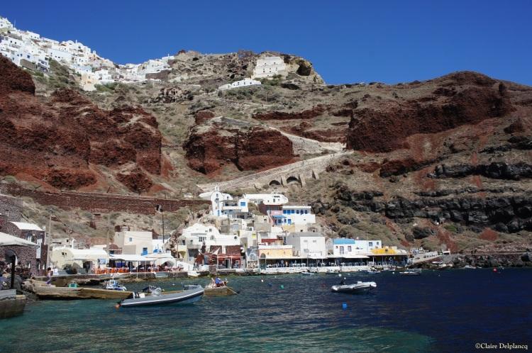 Oia's harbour Santorini