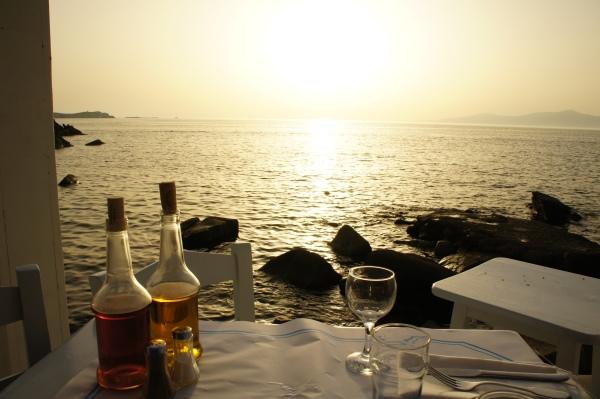 Sea Satin Market restaurant sunset