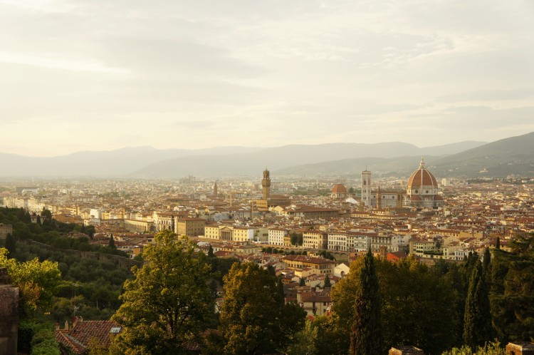 Florence sunset view