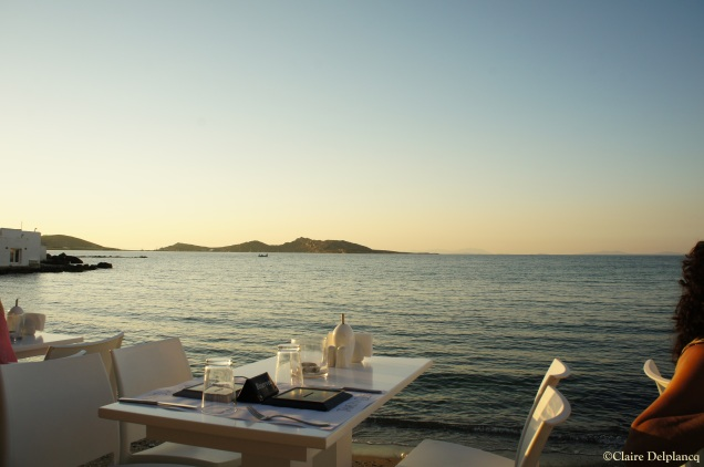 Sunset dinner Paros