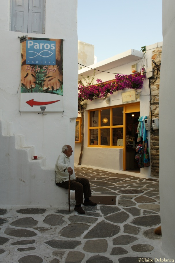 Old man in Naoussa Paros