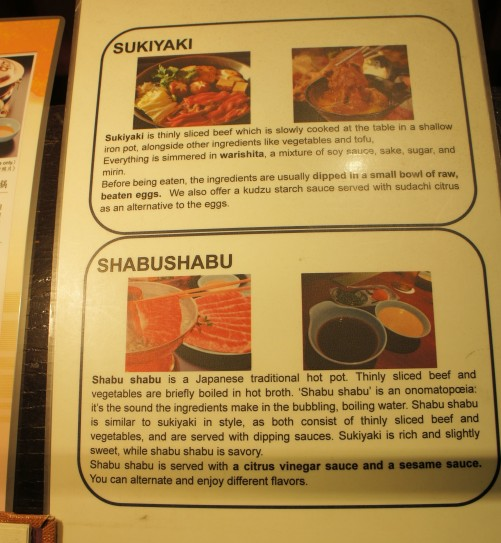 Sukiyaki and Shabushabu