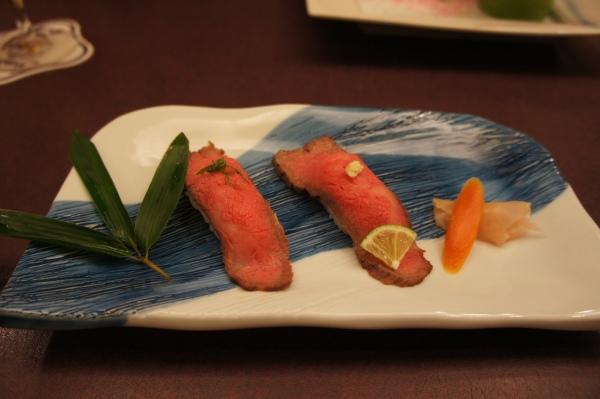 Beef sushi Imahan