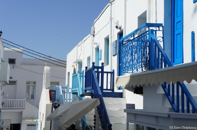 Blue staircases Mykonos
