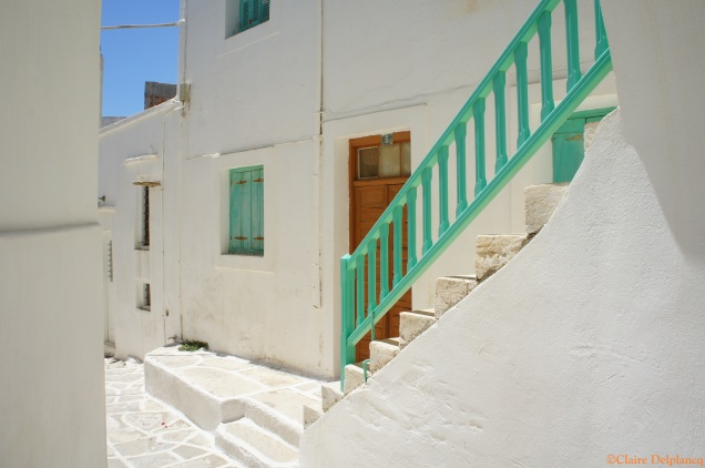 Green stairs Lefkes
