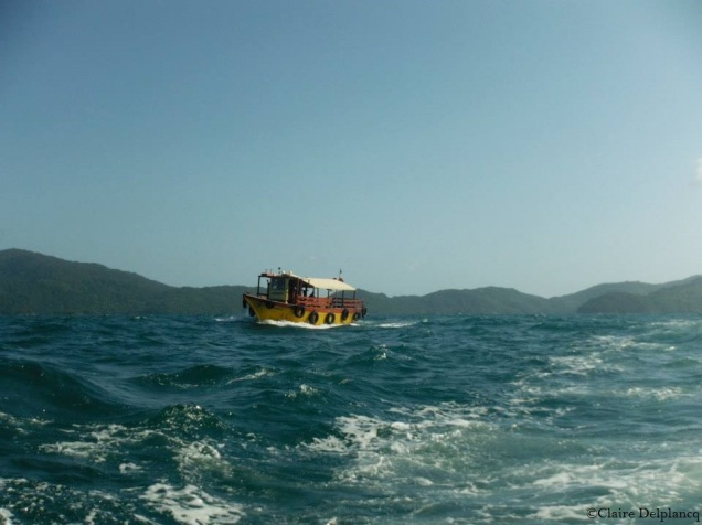 Yellow boat Ihla Grande Brazil