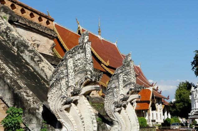 Chiang Mai dragon statues